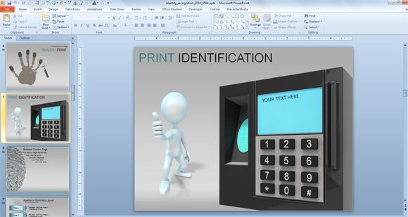 Awesome Identity Recognition  Cybercrime PowerPoint Template
