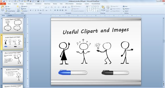 Awesome Whiteboard Symbols PowerPoint Templates for Presentations - Powerpoint Presentation