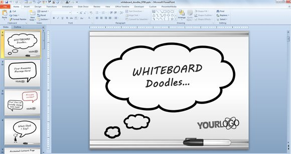 Awesome Whiteboard Symbols Powerpoint Templates For