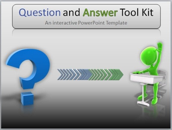 Question And Answer Toolkit Template For PowerPoint Presentations - interactive powerpoint template