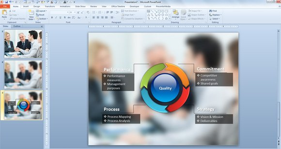 Creative Method to Embed Diagrams Over Photos in PowerPoint