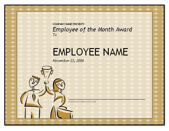 Free Employee of the Month Template for Employee Recognition in - Employee Presentations