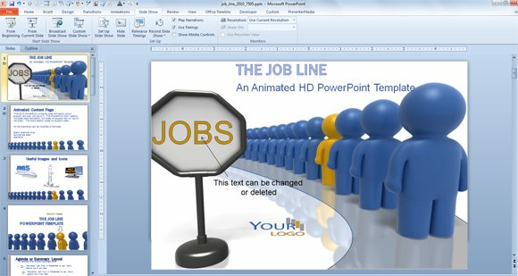Animated PowerPoint Templates for Employee Recognition and Job - Employee Presentations