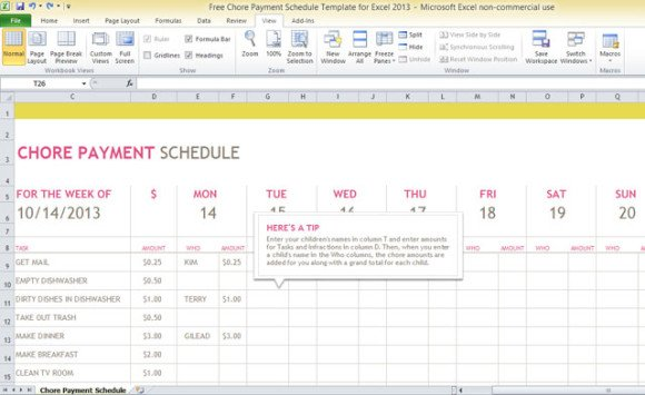 Free Invoice Tracking Template For Excel Bill Payment Calendar