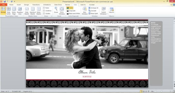 Free Wedding Photo Album Template For PowerPoint 2013 - photo album templates free