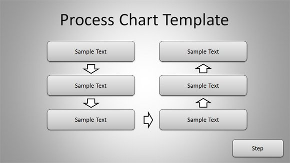 Free Simple Process Chart Template for PowerPoint Presentations - process flow chart template