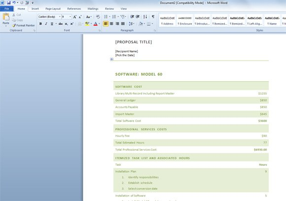 Free Business Proposal Template for Word - ms word proposal template