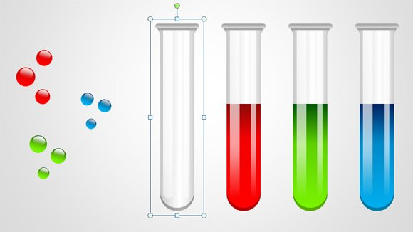 Free Test Tubes Shapes for PowerPoint