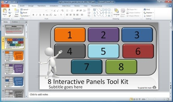 Create Interactive Presentations With 8 Interactive Panels Toolkit