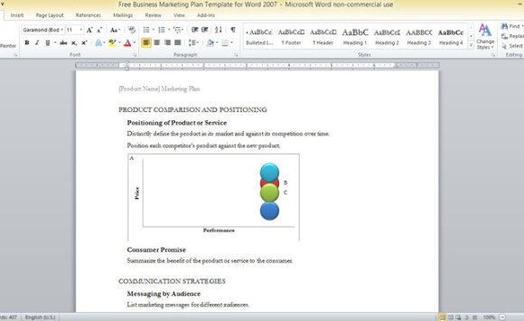 Free Business Marketing Plan Template For Word 2007