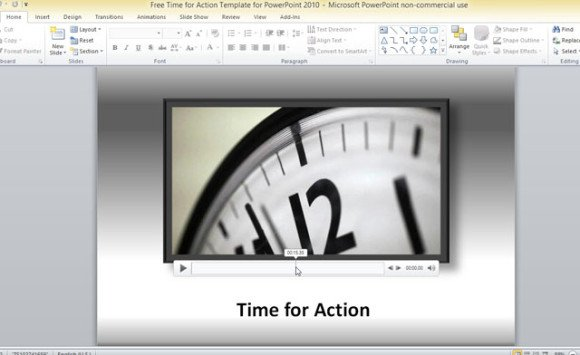 Free Time For Action Template For PowerPoint 2010 - powerpoint 2010 templates