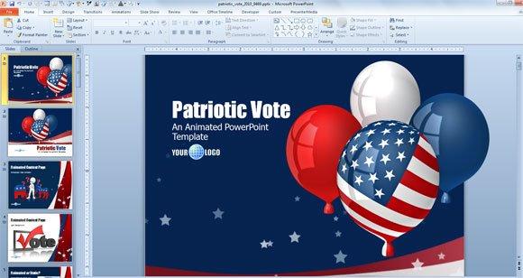 American Powerpoint Template Costumepartyrun