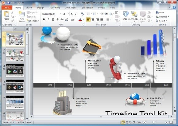Awesome Timeline Toolkit For PowerPoint Presentations