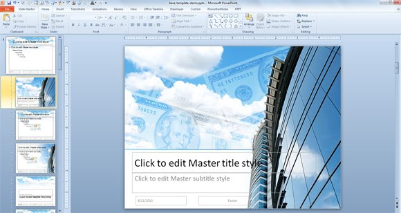 How to Create a PowerPoint Template using a JPG Image Background - create power point