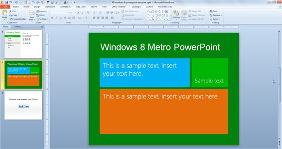 Awesome Metro PowerPoint Template Designs