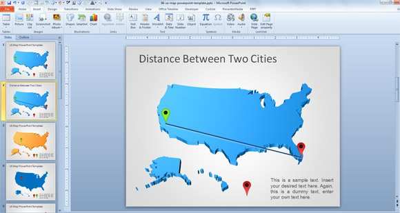 Awesome  Free USA Map Outline for PowerPoint Presentations
