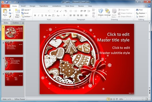 Best Holiday Season PowerPoint Templates - microsoft publisher christmas templates