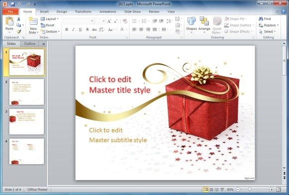 Best Static And Animated Christmas PowerPoint Templates - template for christmas