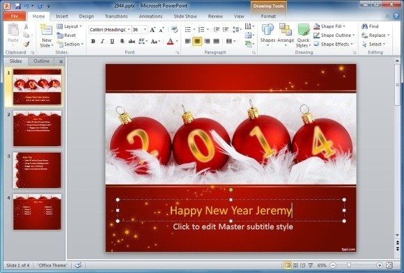 How To Make Animated Happy New Year Cards in PowerPoint