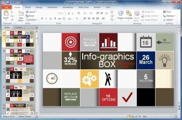 Animated Infographics Template For PowerPoint