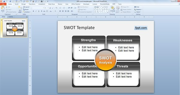 Free SWOT Template Ideas for PowerPoint
