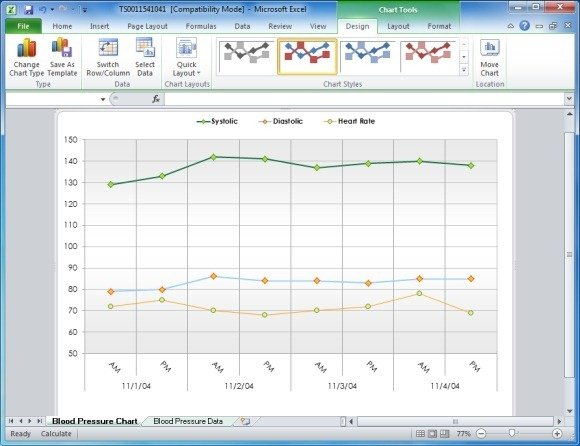 Create Your Blood Pressure Chart With Free Excel Template - How To Graph Excel