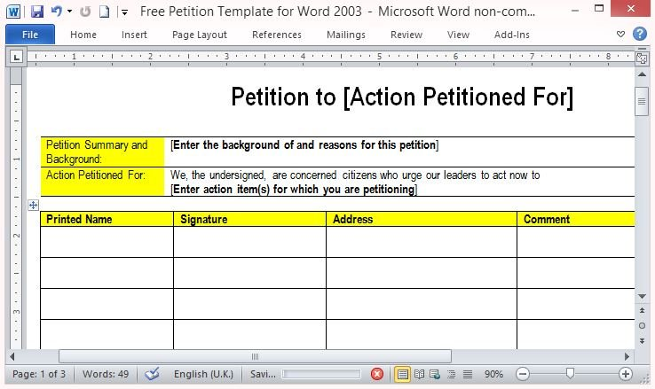 how to create a petition form - Leonescapers