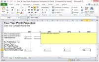 Free 4-Year Sales Projection Template For Excel