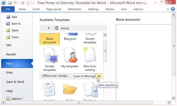 Free Power Of Attorney Template For Word