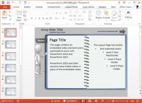 notepad-story-map-template-for-powerpointjpg - FPPT