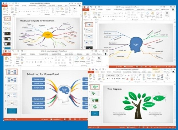 Concept Map Templates For PowerPoint - Map Template