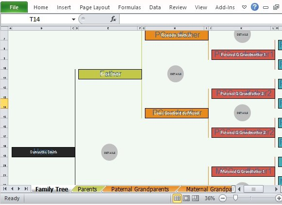 Family Tree Template For Excel - how to create a family tree in excel