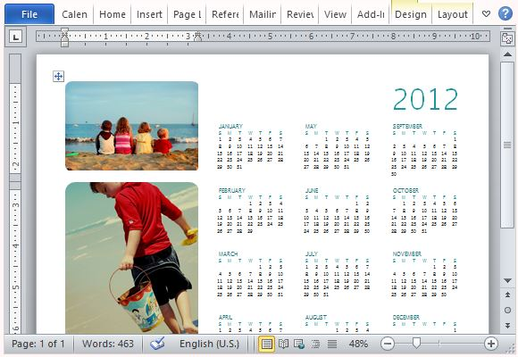 create calendar in word - Onwebioinnovate