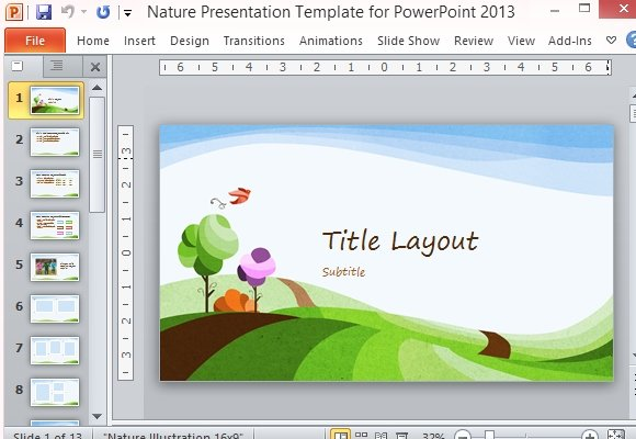 Nature Presentation Template For PowerPoint 2013