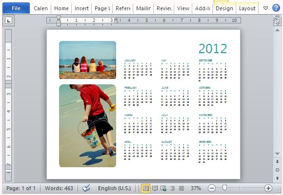How To Easily Create A Family Photo Calendar in Microsoft Word