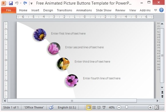 Free Animated Picture Buttons Template For PowerPoint - power point slide designs
