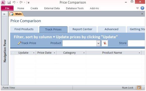 Desktop Price Comparison Template For Access