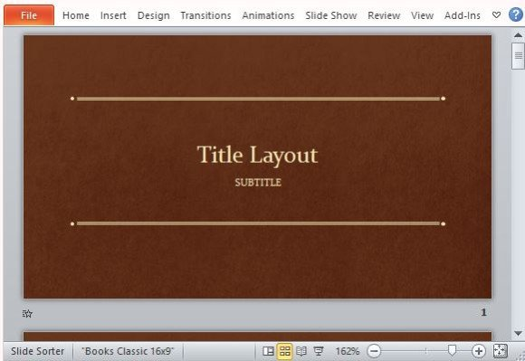 Classic Book Template For PowerPoint - powerpoint books