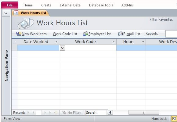 Track Employee Hours With Desktop Time Card Template For Access - employee time card