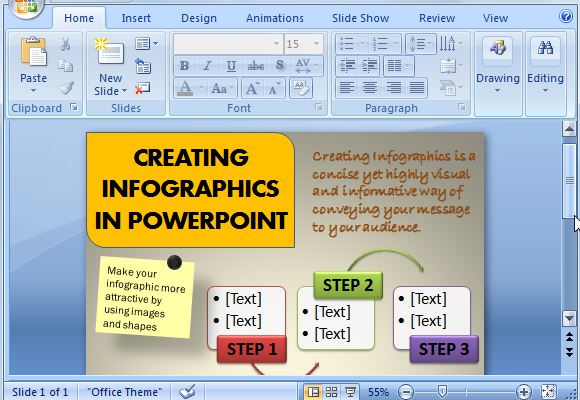 How To Create Infographics Using PowerPoint - create power point