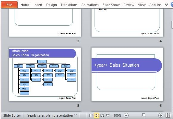 Yearly Sales Plan Templates For PowerPoint - sales presentation template