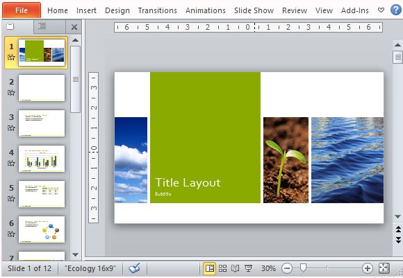 Nature Ecology Photo Presentation Template For PowerPoint