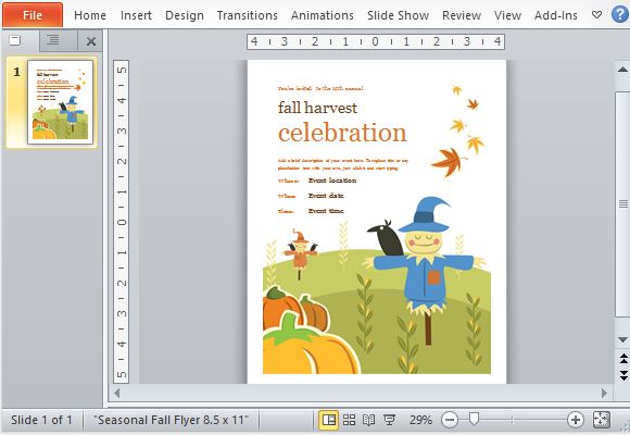 fall themed powerpoint templates