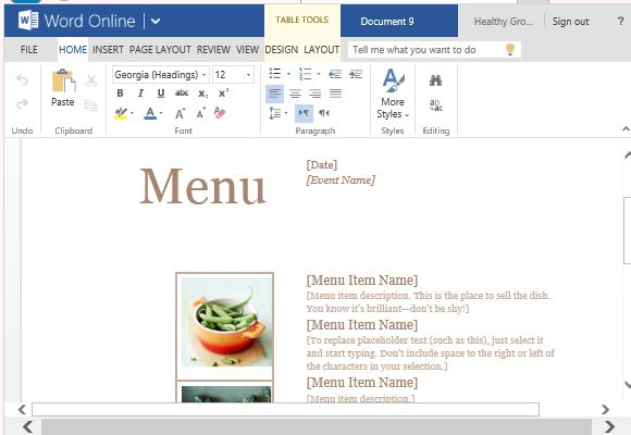Convenient Menu Maker Templates by Microsoft Office - FPPT