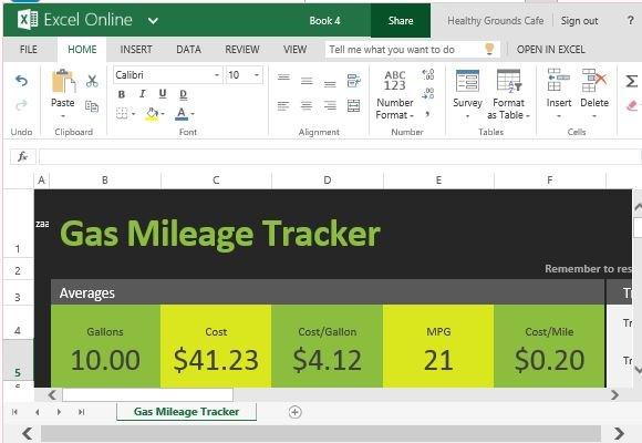 gas mileage tracker spreadsheet - Onwebioinnovate