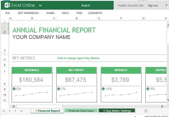 Annual Financial Report Template For Excel Online - business reporting templates