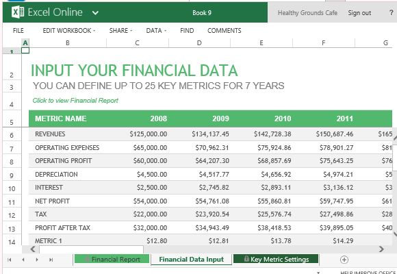 Annual Financial Report Template For Excel Online - financial report excel