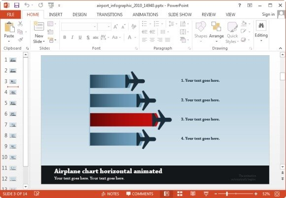 Animated Airport PowerPoint Templates