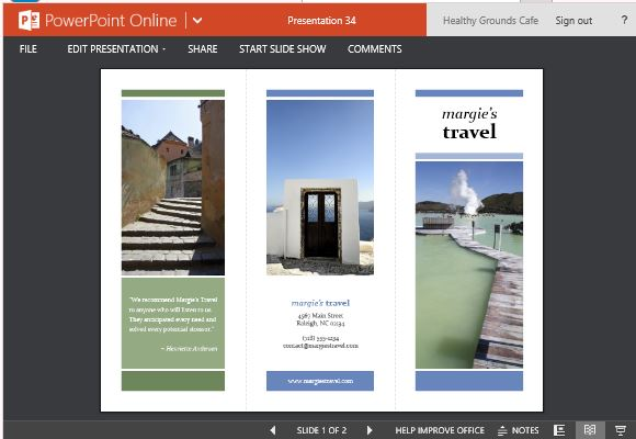 Travel Brochure Maker Templates For PowerPoint√ ppt brochure real