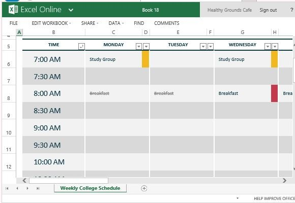 How To Easily Create Class Schedules Using Excel - create a schedule